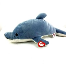 """Ty Beanies Pillow Pal Glide the Dolphin 1997 16"""" - $12.87"""