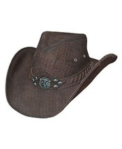 Bullhide Brown Buffalo Leather Shapeable Hat, AMERICAN BUFFALO  Size M, ... - $147.51