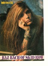 Skid Row Sebastin Bach Jon Bon Jovi teen magazine pinup clipping on fire... - $3.50