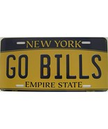 New York State Background Novelty Metal License Plate Tag (Go Bills) - $13.25