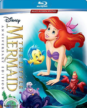Disney Little Mermaid Anniversary Edition (Blu-ray + DVD, 2019)