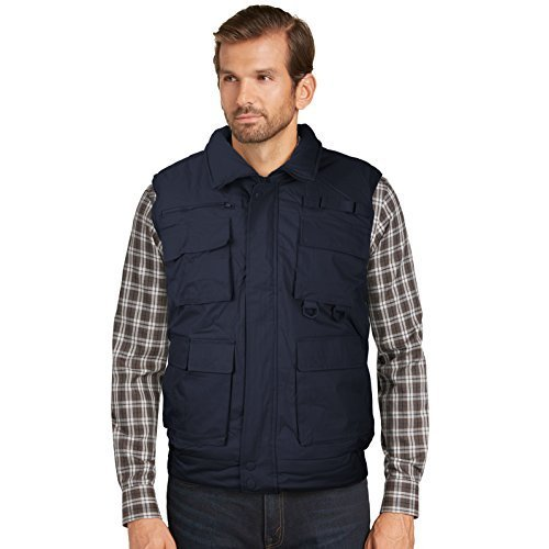 Men's Multi Pocket Zip Up Military Fishing Hunting Utility Tactical Vest (XL, Na