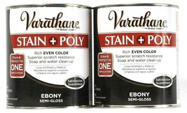2 Varathane 32 Oz Stain & Poly In 1 Application 214464  Rich Ebony Semi ... - $29.99