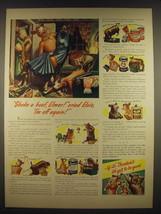 1941 Borden's Milk Ad - Shake a hoof, Elmer! Cried Elsie, I'm off again - $14.99