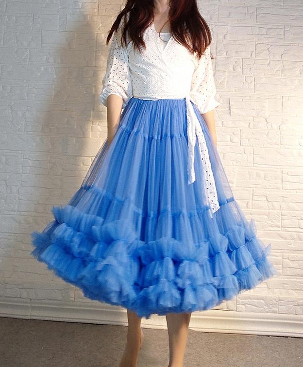Layered ballet tulle skirt  1