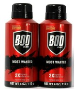 2 Cans Bod Man 4 Oz Most Wanted 2X Fragrance Boosted With Caffeine Body ... - $15.99
