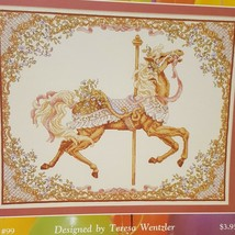 Carousel Horse Spring Cross Stitch Pattern Leaflet 99 Just CrossStitch 1989 - $18.99