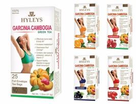 Hyleys 100% Natural Slim Green Tea Garcinia Cambogia 25 teabags - Please Choose - $5.99+