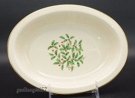 "Lenox Holiday Holly * OVAL SERVING / VEGETABLE BOWL * Christmas, 9 5/8"",... - $29.99"