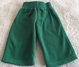 Children's Place Boys Green Fleece Pants 12 Months  - $4.00