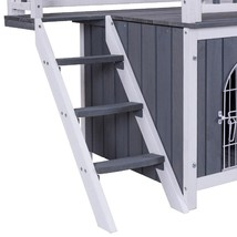 Two Sizes Wooden Pet House Dog Cat Puppy Room-M - $153.41