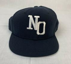 Vintage New Era Fitted Cap Navy Blue New Orleans Hat 7 1/4 Logo Team Umpire - $49.99