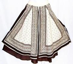 M Hippie Tribal Ethnic Boho Bohemian Peasant Gypsy Belly Dancing Split Skirt - $26.72