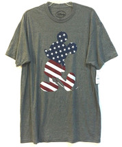 NWT Disney Mickey Mouse Flag Patriotic T-Shirt Tee Size XL Red White Blue - £18.63 GBP