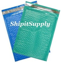 2-500 #0 6.5x10 Poly ( Teal & Blue ) Combo Color Bubble Padded Extra Wid... - $3.46+