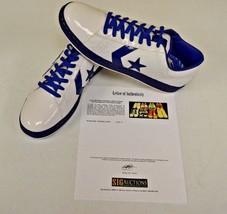 Converse White Blue Basketball Shoes sz 14 DWAYNE WADE Personal Owned w COA #9 - $247.49