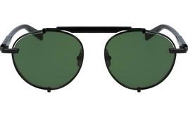 Salvatore Ferragamo Sunglasses SF197S 001 Black / Green Lens 52mm - $96.03