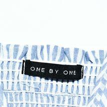 ONEBYEONE Women's Blue White Pinstripe Sleeveless Jumpsuit Playsuit Size S image 4