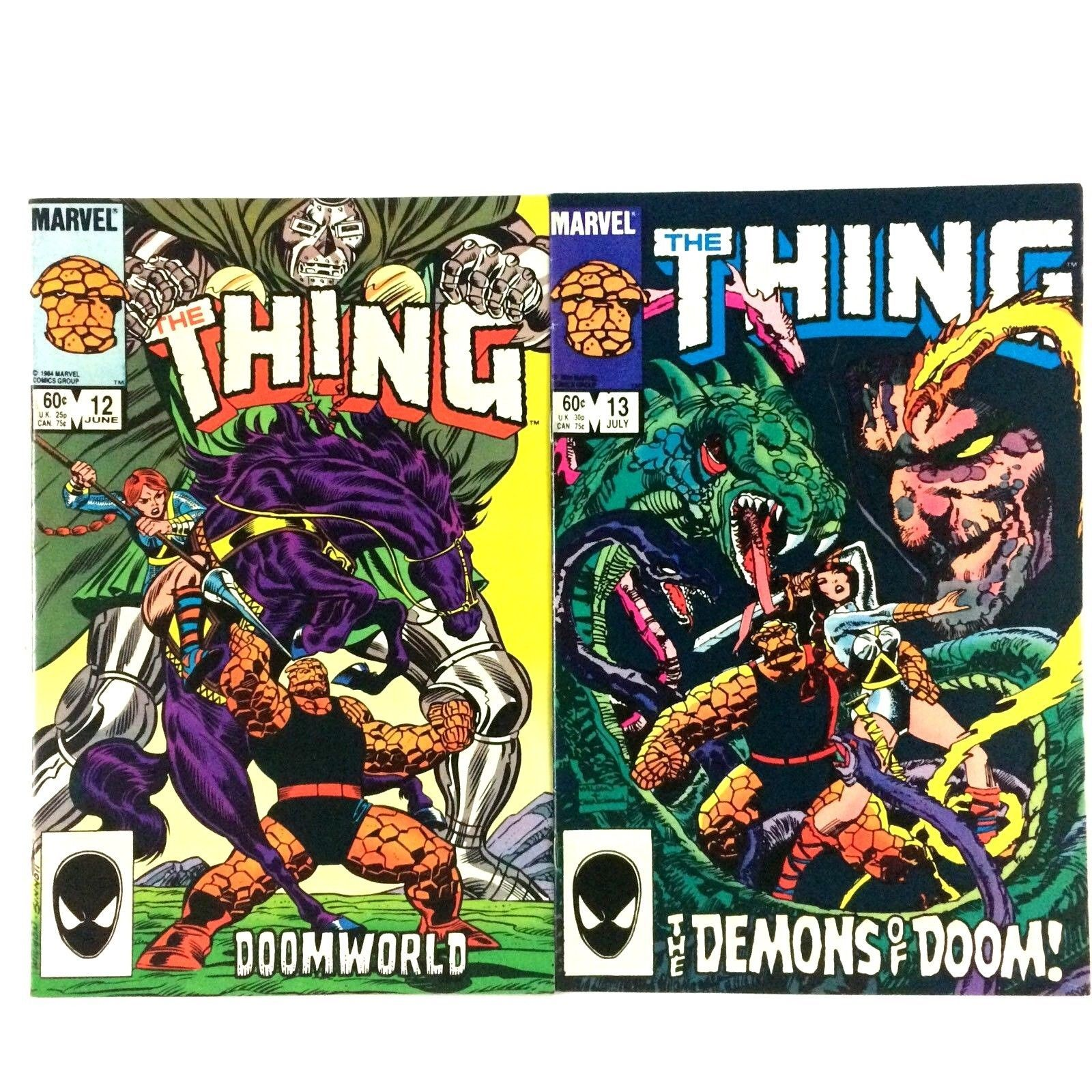 The Thing 13 Issue Comic Book Lot Marvel Copper Age Spider-Man Wonder Man