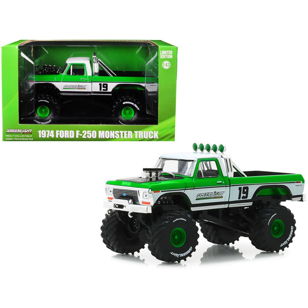 1974 Ford F-250 Monster Truck #19 GreenLight Racing Team 1/43 Diecast Model Car