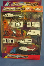 Toys Action Wheels NIB Police Die Cast Metal Play Set 16 pieces - $12.95