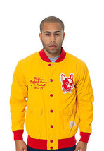 Hawke & Dumar Yellow Red Junior Varsity 30's Football Stadium Field Jacket NWT