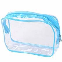 Set of 4 PVC Transparent Waterproof Pouch Cosmetic Bag Wash Bag