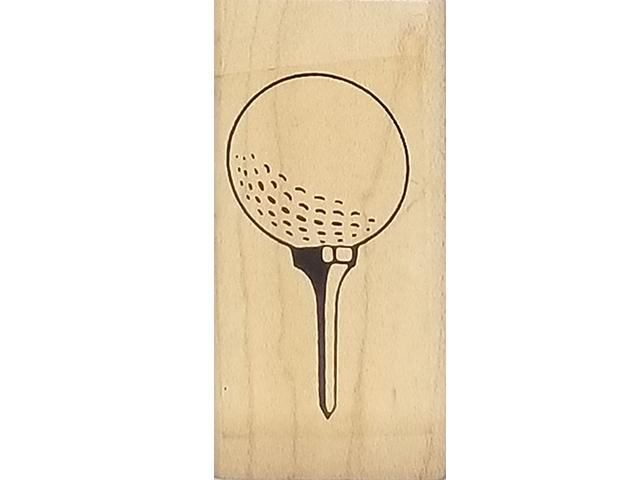 Custer Last Stamp Golf Ball Tee'd Up Rubber Stamp