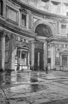 ROME Italy Pantheon Interior View - 1888 Original Print Engraving - $21.60