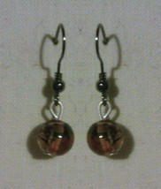 Handmade Glass Bead Drop Earrings - $5.00