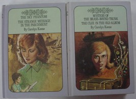 Nancy Drew Twin Thrillers 2 LOT Lavender covers #53, 54, 17, & 24 harder... - $15.00