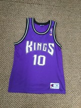 Sacramento Kings Mike Bibby Purple Champion Jersey Size 40 - $74.24