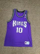 Sacramento Kings Mike Bibby Purple Champion Jersey Size 40 - $74.24