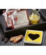 24 White Porcelain Heart Olive Oil Vinegar Dipping Plate Bridal Wedding ... - €97,66 EUR