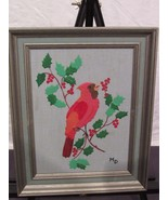 Leather 3D Wall Art Marjorie Decker Framed Christmas Cardinal 12 By 15 - $18.63