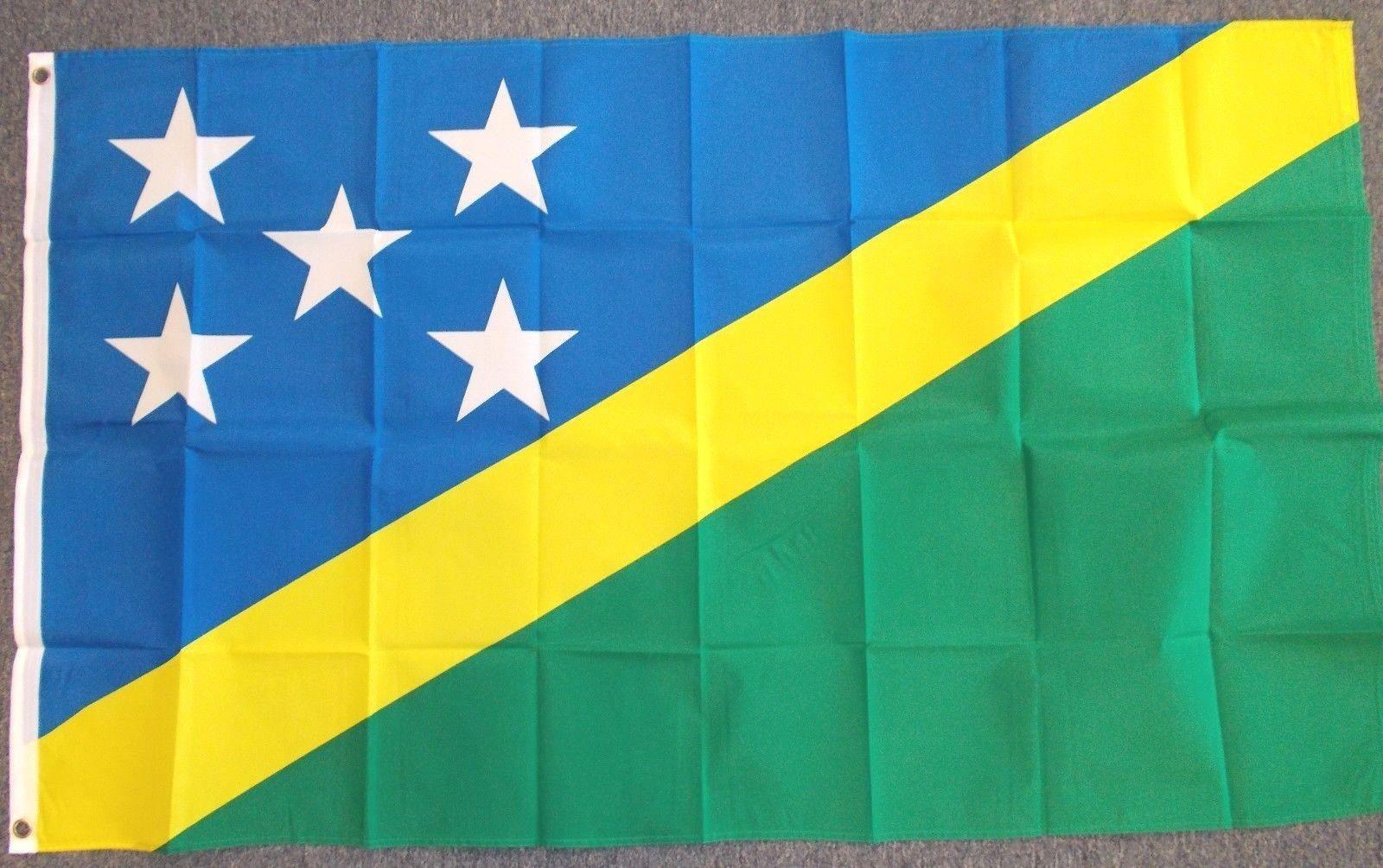 "SOLOMON ISLANDS 3X5' FLAG NEW 3'X5' 3 X 5 FEET 36X60"""