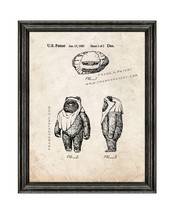 Star Wars Wicket Patent Print Old Look with Black Wood Frame - $24.95+
