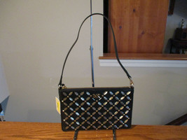 Michael Kors Medum Convertible Pouchette Black Leather Studded Wristlet ... - $118.79