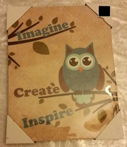 "1 RARE app. 14"" x 11"" KITCHEN WALL PICTURE, OWL... - $9.49"