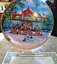 Collectible Carousel Plates w/ Coa The Franklin Mint Carousel Excitement - $19.80