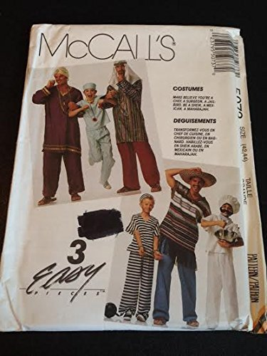 Primary image for McCall's 5073 Sewing Pattern, Men's, Teen Boys' and Boys' Costumes, Size Large (