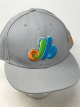 Montreal Expos Gray Hat Orange Green Blue Logo Sz 8 Cooperstown 59 Fifty... - $39.55