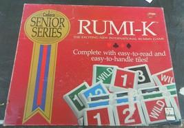 Rumi-K Board Game Cadaco Senior Series Rummikub Large Tiles Complete - $20.00