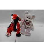 TY Beanie Babies Bears 2001 Signature Bear and Patriot Bear 2000 Lot of 2 - $9.89