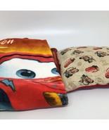 Disney Pixar Cars Rusteze Speed Lightning McQueen Throw Blanket & Throw ... - $32.71