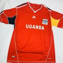 Adidas Mens Uganda Size XL Fufa Cranes Soccer Jersey Shirt Red Climacool - $27.10