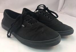 VANS Lo Pro Classic All Black Canvas Lace Up Skate Shoes Men Size 5.5 Wo... - $34.64