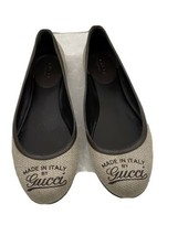 Gucci Beige with Brown Made in Italy Ballet Flats Size 8.5 - $346.50