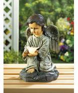 KNEELING ANGEL with Light Up Dove Solar Statue - $26.89