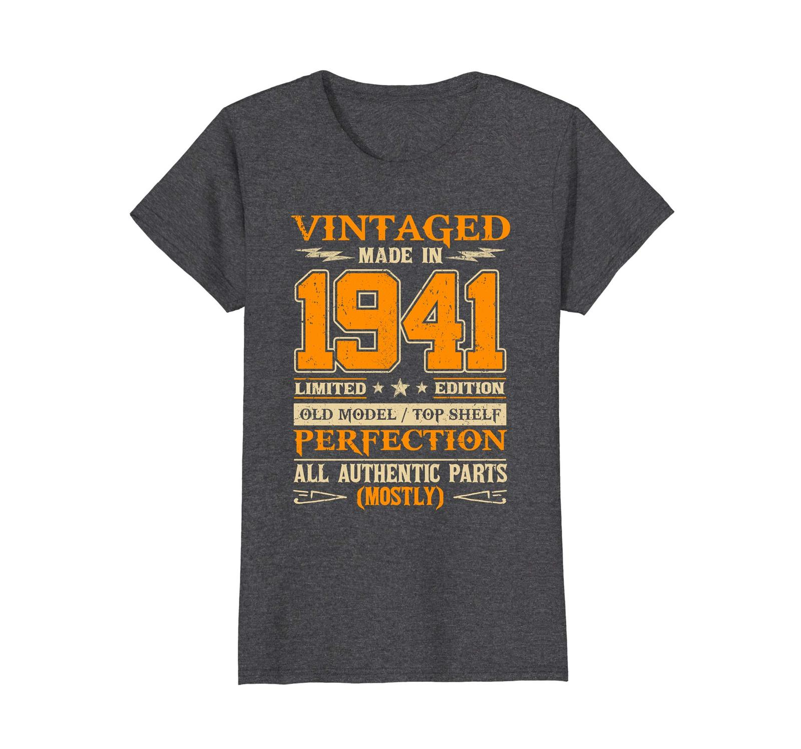 Funny Shirts - Legends Vintage Made In 1941 77th Birthday Gift 77 years old Wowe